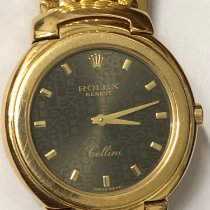 Rolex Cellini Geelgoud 33mm Wit Romeins