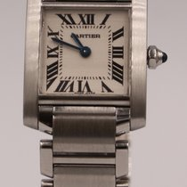 Cartier Tank Française Steel 20mm Silver Roman numerals United Kingdom, Middlesbrough