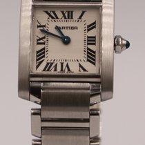 Cartier Tank Française Stål 20mm Sølv Romersk