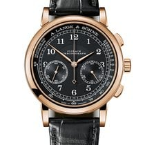 A. Lange & Söhne Rose gold Automatic Black 39.5mm new Datograph