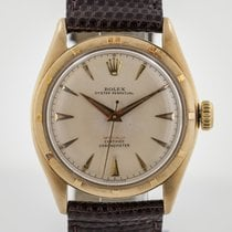 Rolex Bubble Back Oro amarillo 34.1mm Blanco Sin cifras
