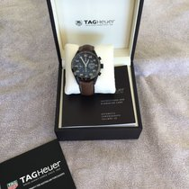 TAG Heuer Titanium Automatic Black Arabic numerals 43mm pre-owned Carrera Calibre 16