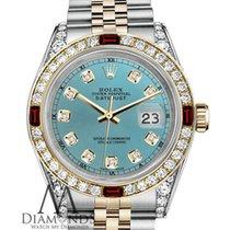 Rolex Lady-Datejust Acero y oro 26mm Azul