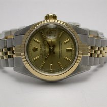 Rolex 69173 Datejust 2 Tone Stainless Steel 18k Gold Auto...