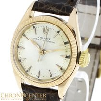 Rolex Red gold Automatic White 26mm pre-owned Oyster Perpetual