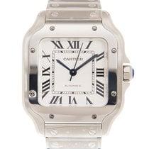 卡地亚 Santos De Cartier Stainless Steel White Automatic WSSA0010