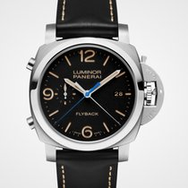 Panerai Luminor 1950 3 Days Chrono Flyback Aço 44mm Preto Árabes