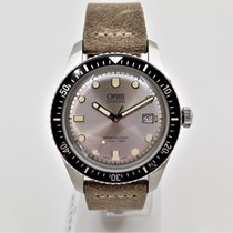 Oris Divers Sixty Five Steel 42mm Silver No numerals
