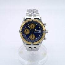 Breitling Chronomat Gold/Steel 39mm Blue No numerals