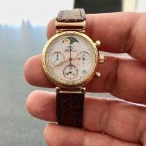 IWC Da Vinci Chronograph Oro amarillo 29mm Blanco Sin cifras