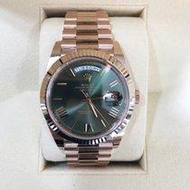 Rolex Or rose Remontage automatique Brun 40mm nouveau Day-Date 40