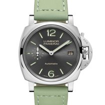Panerai Luminor Due Stahl 38mm Grau Arabisch