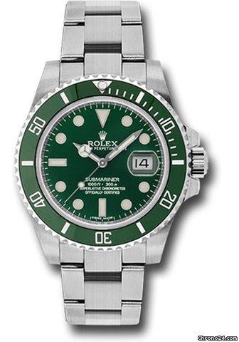 Rolex NEW Submariner Green Ceramic 116610LV \u0027Hulk\u0027
