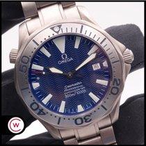 Omega Titane Remontage automatique Bleu Sans chiffres 41mm occasion Seamaster Diver 300 M