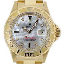 Rolex YACHT-MASTER 40mm MOP Diamond Dial 18K Yellow Gold Watch