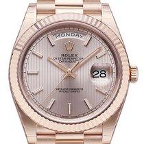 Rolex Day-Date 40 Oro rosado 40mm Rosa Sin cifras