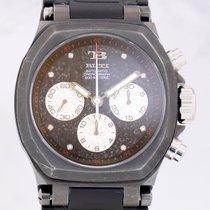 TB Buti Yanick II Black Chronograph Automatic Diamond Dial Rocker