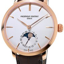 Frederique Constant Manufacture Slimline Moonphase Rose gold Silver United States of America, New York, Brooklyn