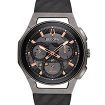Bulova Titanium Quartz Black No numerals 44mm new