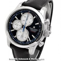 Maurice Lacroix Pontos Chronographe Rétro Staal 43mm Zwart