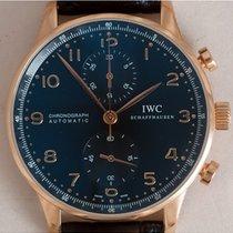 IWC Portuguese Chronograph Roségoud 41mm Zwart Arabisch Nederland, Amstelveen