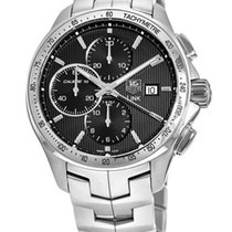TAG Heuer Steel Automatic Black 43mm new Link Calibre 16