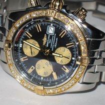 Breitling Chronomat Evolution Gold/Stahl 44mm Schwarz Keine Ziffern