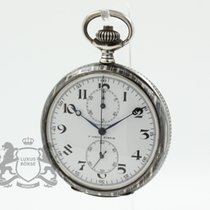 Longines Silver Manual winding White Arabic numerals 52.7mm pre-owned