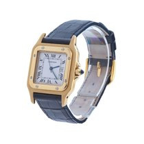 Cartier Yellow gold Automatic 29mm pre-owned Santos Galbée
