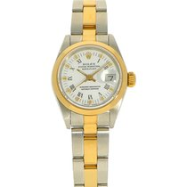 Rolex Oyster Perpetual Lady Date Goud/Staal 26mm Wit Romeins Nederland, Amsterdam
