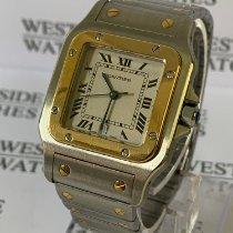 Cartier Santos Galbée Gold/Stahl 41mm Weiß Römisch Deutschland, Karlsruhe