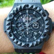 Hublot Big Bang Aero Bang pre-owned 44mm Black Chronograph Date Leather