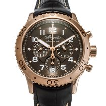 Breguet Rose gold Automatic Brown 42mm pre-owned Type XX - XXI - XXII