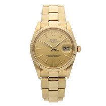 Rolex Oyster Perpetual Date Yellow gold 34mm Champagne No numerals United States of America, Pennsylvania, Bala Cynwyd