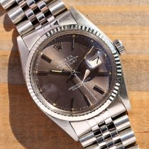 Rolex Datejust Zeljezo 36mm Siv Bez brojeva