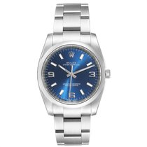Rolex Oyster Perpetual 34 Steel 34mm Blue Arabic numerals United States of America, Georgia, Atlanta