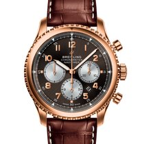Breitling Yellow gold Chronograph Brown 43mm new Navitimer 8