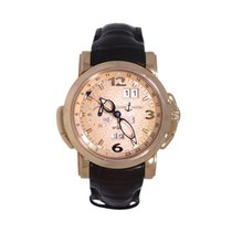 Ulysse Nardin GMT +/- Perpetual Rose gold 42mm Champagne Arabic numerals