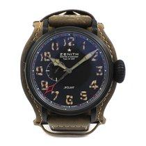 Zenith Black Titanium Zenith GMT Pilot Watch 96.2431.693/21.C738