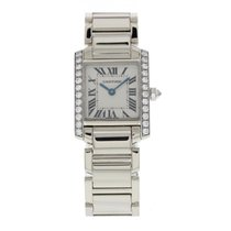 Cartier Tank Francaise 2403 18k White Gold & Diamonds