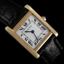 Cartier Tank Mens Midsize Quartz Watch, Francaise Style - 18K...