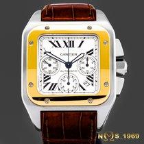 Cartier Santos 100 Zlato/Zeljezo 42mm Srebro Rimski brojevi