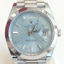 Rolex Day-Date 40 Platin 40mm Blau Schweiz, Zürich
