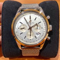Breitling Chronograph 43mm Automatic 2015 pre-owned Transocean Chronograph Silver