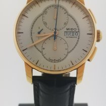Mido Baroncelli Chronograph Gold/Stahl 42mm Grau Keine Ziffern