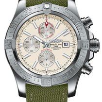 Breitling Super Avenger II Silver No numerals United States of America, New York, Brooklyn