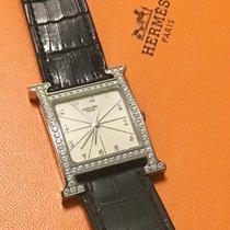 Hermès Stahl 41mm Quarz Hermes Heure H HH1.830 steel diamond gebraucht Schweiz, lugano