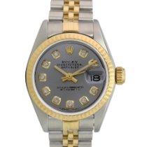 Rolex Lady-Datejust Or/Acier 26mm Gris