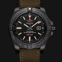 Breitling Avenger Blackbird Titanium Military Bracelet Black...