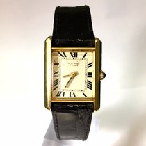 Margi 18K Solid Yellow Gold Ladies Watch w/ Black Patent Band